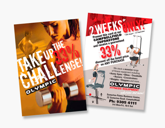 flyer design for olympic fitness